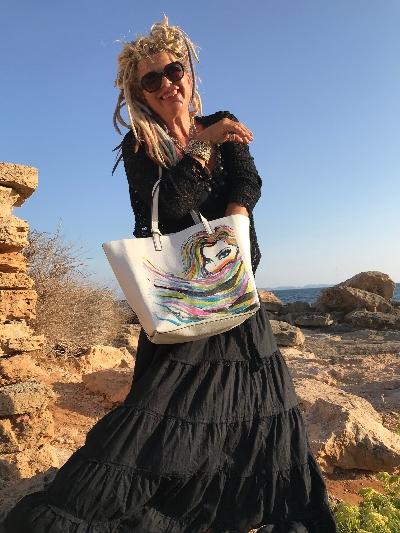Crazy Art Bag Tasche White Lady