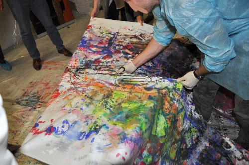 Action Painting Bildaufteilung